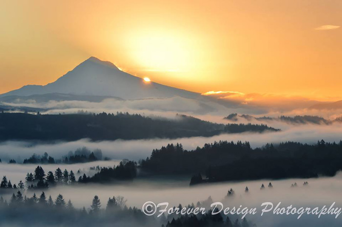 Mt Hood From Jonsrud Viewpoint Copyright Forever Design Photography