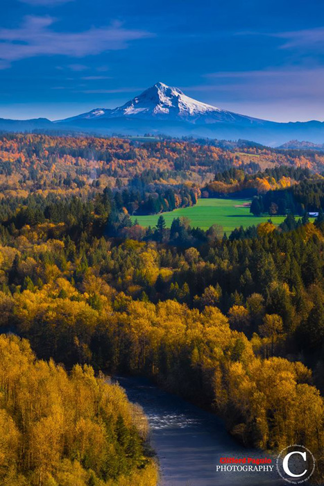 Mt. Hood From Jonsrud Viewpoint In The Fall Copyright Clifford Paguio Photography