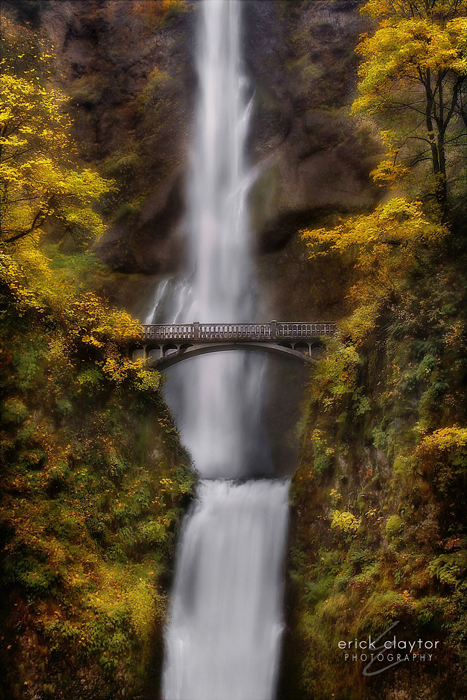 Multnomah Falls in October Copyright Erick Claytor Photography