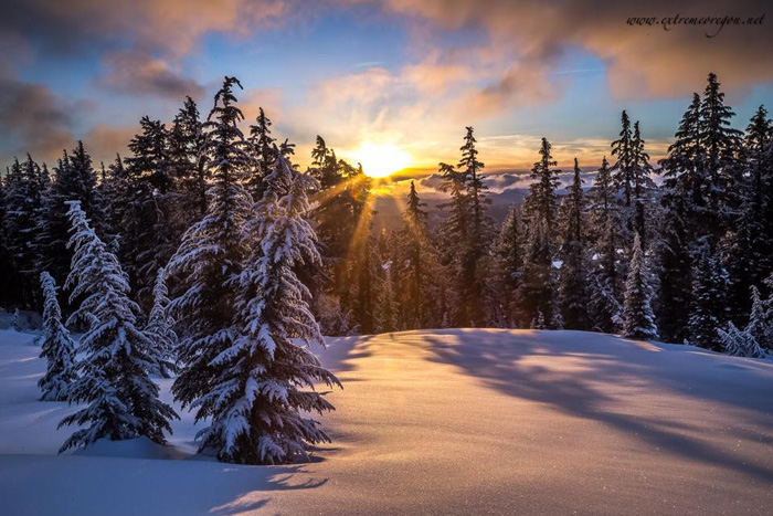 Sunset In The Three Sisters Wilderness Copyright Extreme Oregon James Parsons