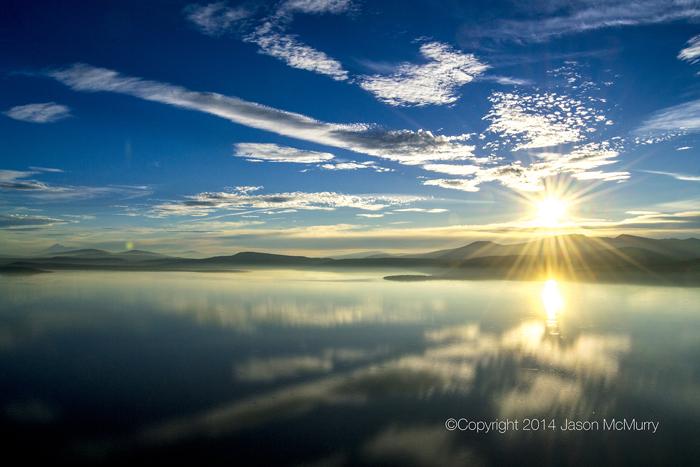 Upper Klamath Lake At Sunset Copyright Jason McMurry Films