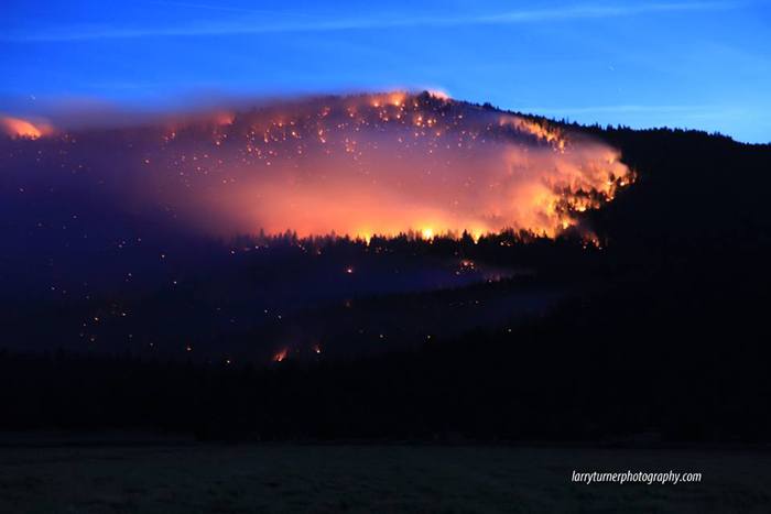 Bryant Mountain Fire Larry Turner Photography