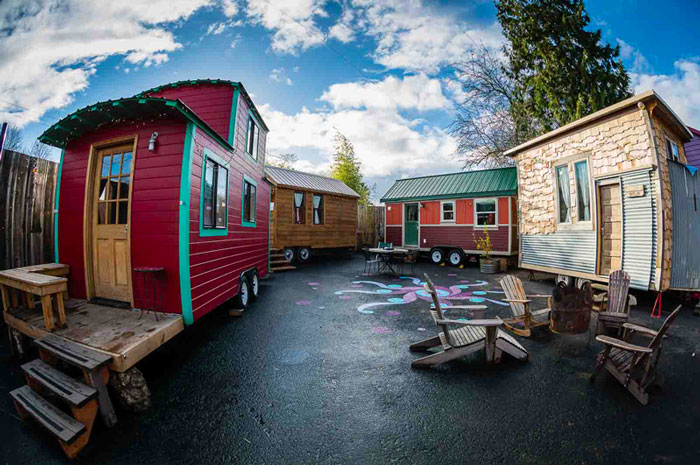 The caravan tiny house hotel in portland is the first in Small houses oregon