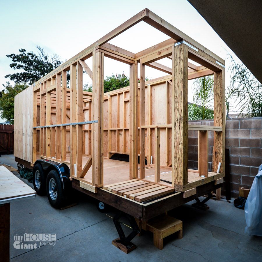 We quit our jobs built a tiny house on wheels and hit the for Tiny home construction plans