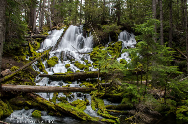 Photo by Jessica Tomlinson of Clearwater Falls. Copyright Jessica Tomlinson of JATomlinson Photography