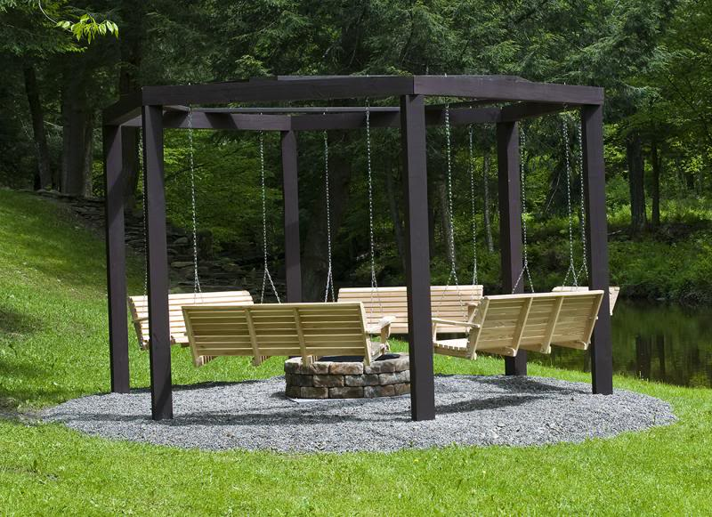 How To Build The Coolest Fire Pit Surrounded By Swings
