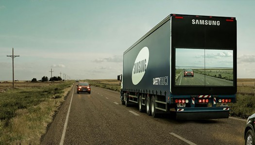 Samsung's 'Safety Truck' Includes Screen To Show The Road Ahead
