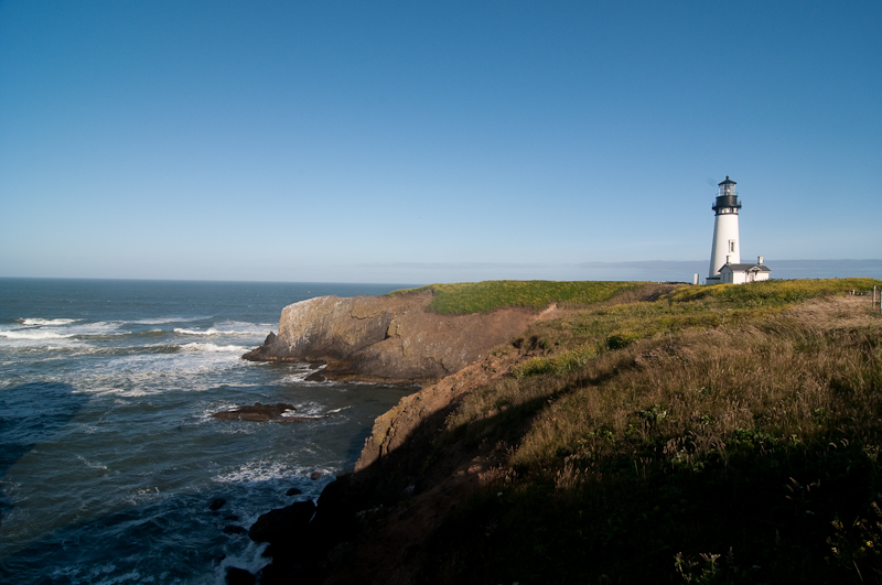 Yaquina Head Light and the coast