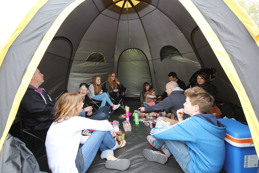 The POD tents connect bringing campers together under one