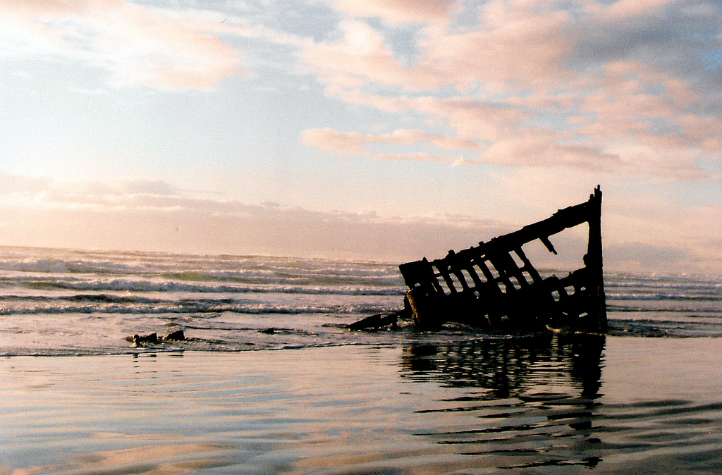 The Wreck of the Peter Iredale was featured in The Road (Serenity Ibsen / Flickr)
