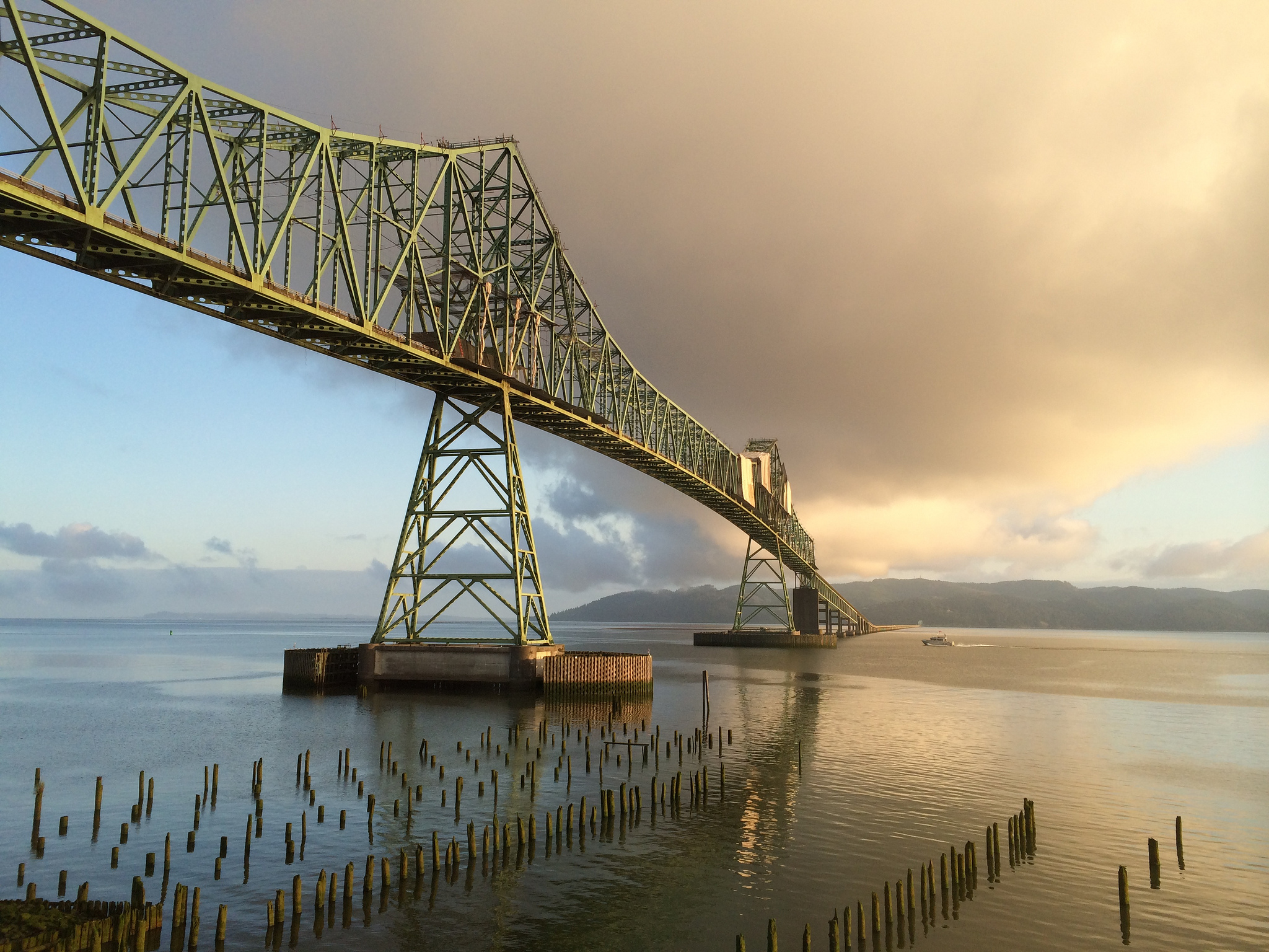 The gorgeous Astoria-Megler Bridge was captured in The Goonies, Kindergarten Cop, Short Circuit, and The Ring 2