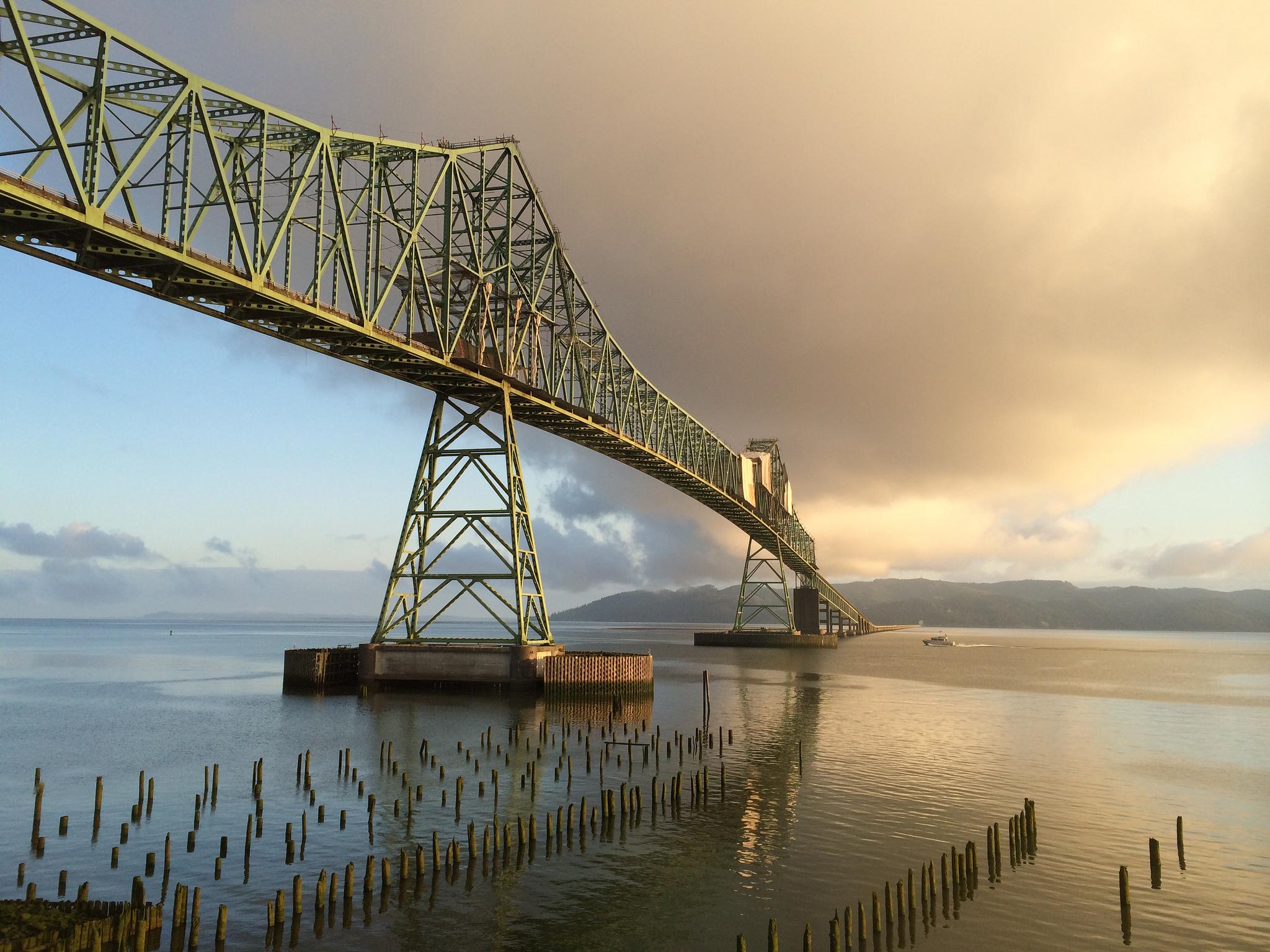 The gorgeous Astoria-Megler Bridge was captured in The Goonies, Kindergarten Cop, Short Circuit, and The Ring 2