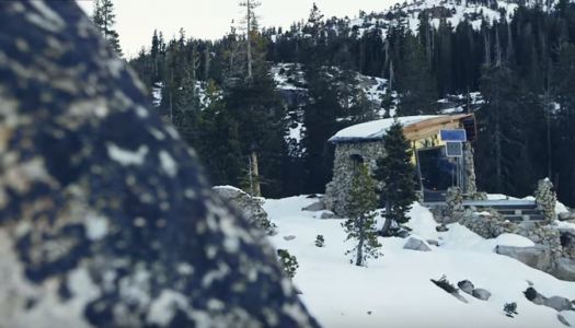 Snowboarder Built the Perfect Off-Grid Tiny Cabin (Video)