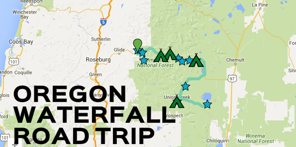 This Southern Oregon Waterfall Road Trip Is The Perfect Getaway - Oregon waterfalls map