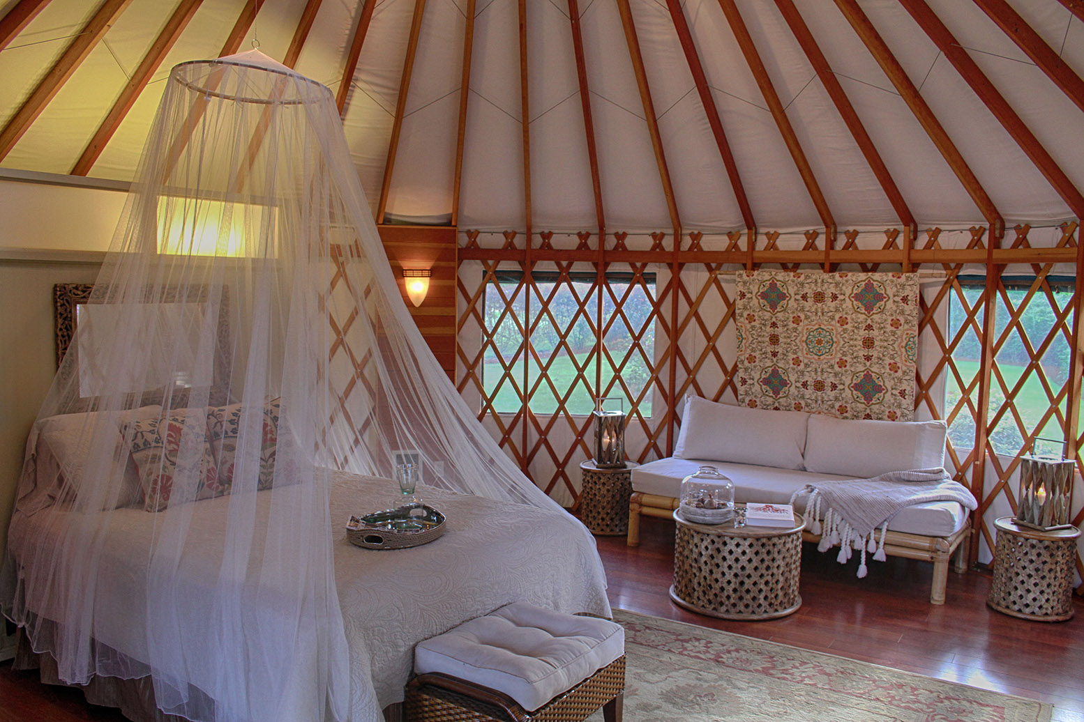 Oregon company will build you a beautiful yurt for less for Yurt bathroom designs