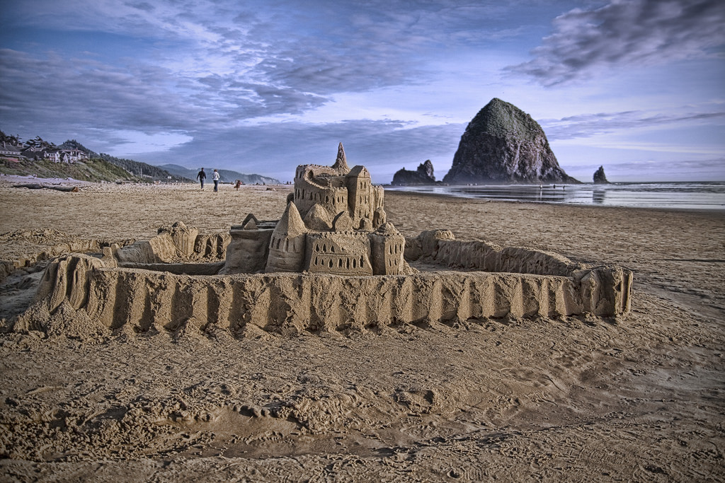Castle Randy Kashka Flickr Cannon Beach Will Host Its 52nd Annual Sandcastle Contest