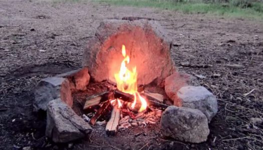 Here's An Easy Way to Make a No-Dig Smokeless Campfire