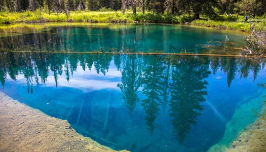 Meet Crater Lake's Stunning Little Sister, Little Crater Lake in Oregon