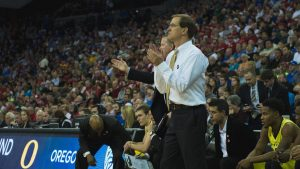 Dana Altman, University of Oregon Men's Basketball head coach.