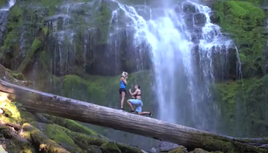 This Surprise Proposal at Proxy Falls Will Melt Your Heart