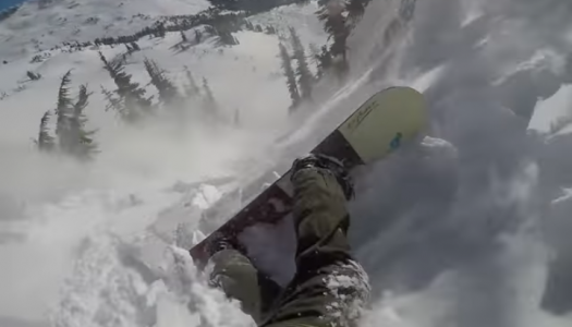 Watch as an airbag backpack saves snowboarder from avalanche