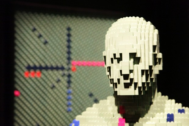 Lego Man PDX Airport Carpet