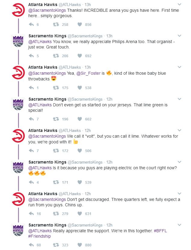 Hawks Kings Twitter Anti-Beef