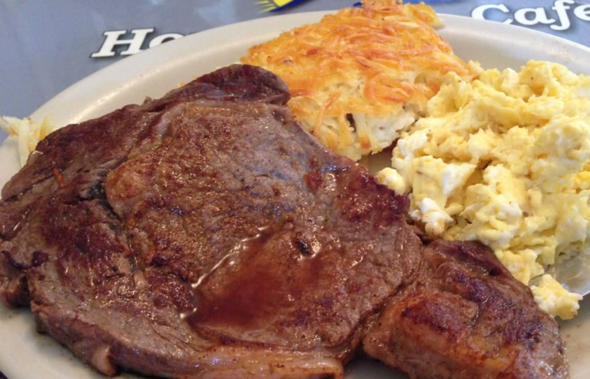 Best Authentic Steak and Eggs Breakfast - Deans Homestyle Cafe
