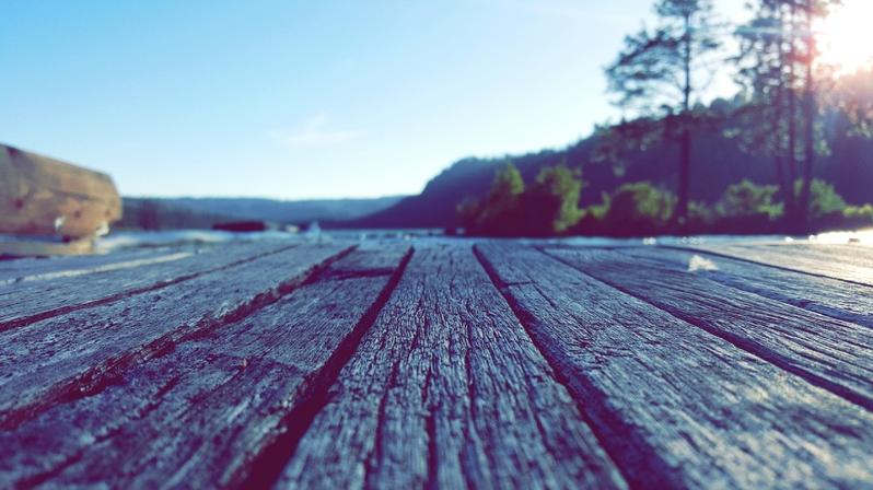 Camp Sherman River Deck