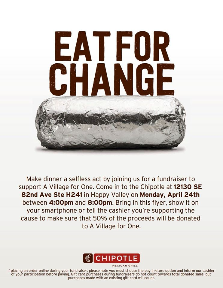 Eat For Change Flyer