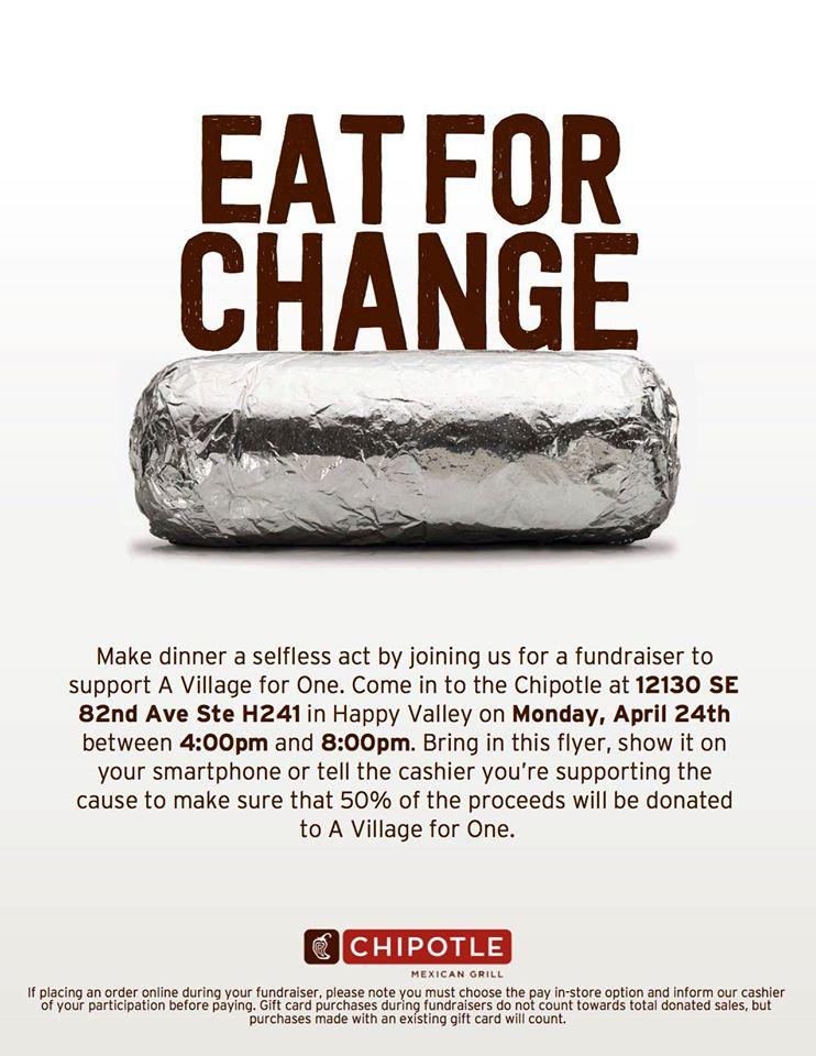 Eat For Change Flyer