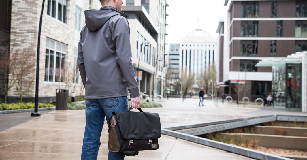 LOOPTWORKS Upcycled Messenger Bag and Camera Bag Insert