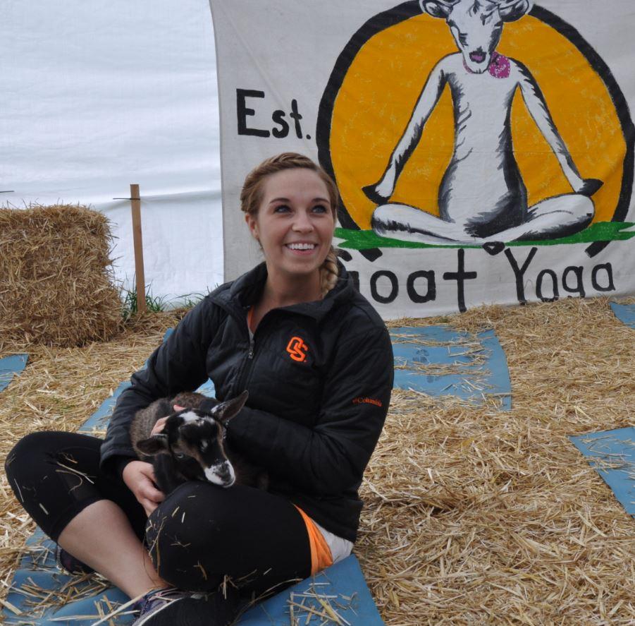 Goat Yoga in Oregon