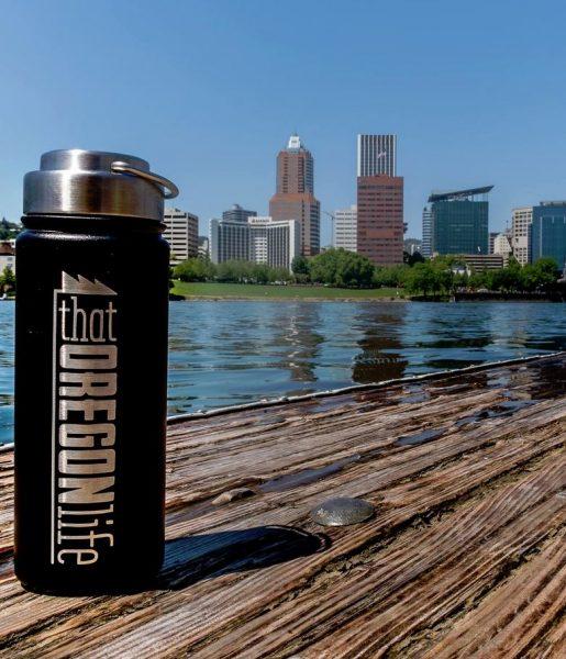 Oregon Stainless Steel Water Bottle - Black 1