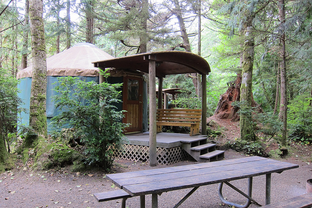 cape lookout state park yurt