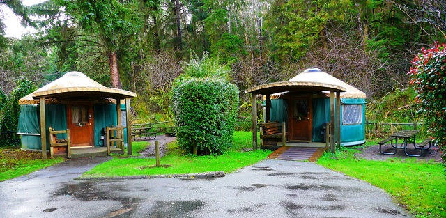 Pleasant 10 Awesome Oregon Coast Yurt Rentals For Less Than 60 Home Interior And Landscaping Spoatsignezvosmurscom