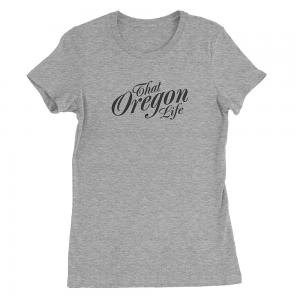 Black-That-Oregon-Life-Script-Logo-Womens-Tee-Shirt-Heather-Grey-1