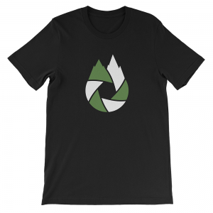 Green-White-That-Oregon-Life-Capture-Logo-Mens-Tee-Shirt-Black-1