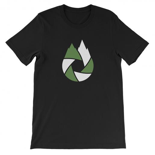 Green-White-That-Oregon-Life-Capture-Logo-Mens-Tee-Shirt-Black-1