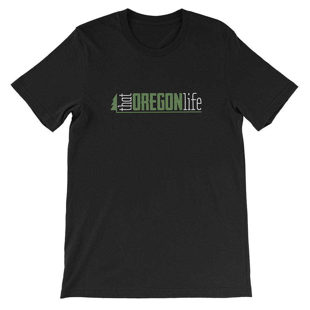 Green-White-That-Oregon-Life-Classic-Logo-Mens-Tee-Shirt-Black-1