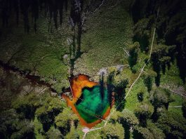 Little Crater Lake Drone Footage