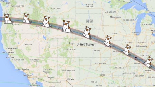 Eclipse Map for Pets