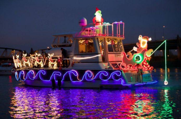 Christmas Ship Parade in Portland Oregon