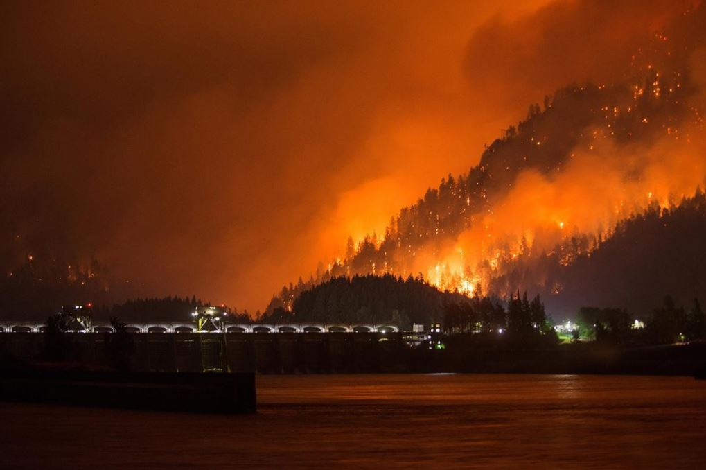 Eagle Creek Fire Explodes Jumps River Now Burning Both