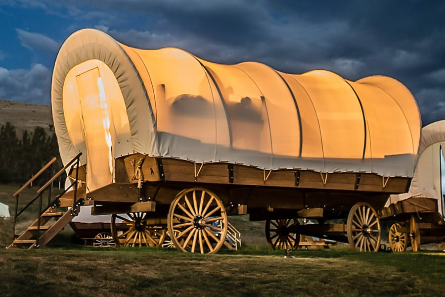 Oregon Trail Camping is a Thing Now With New Covered Wagons