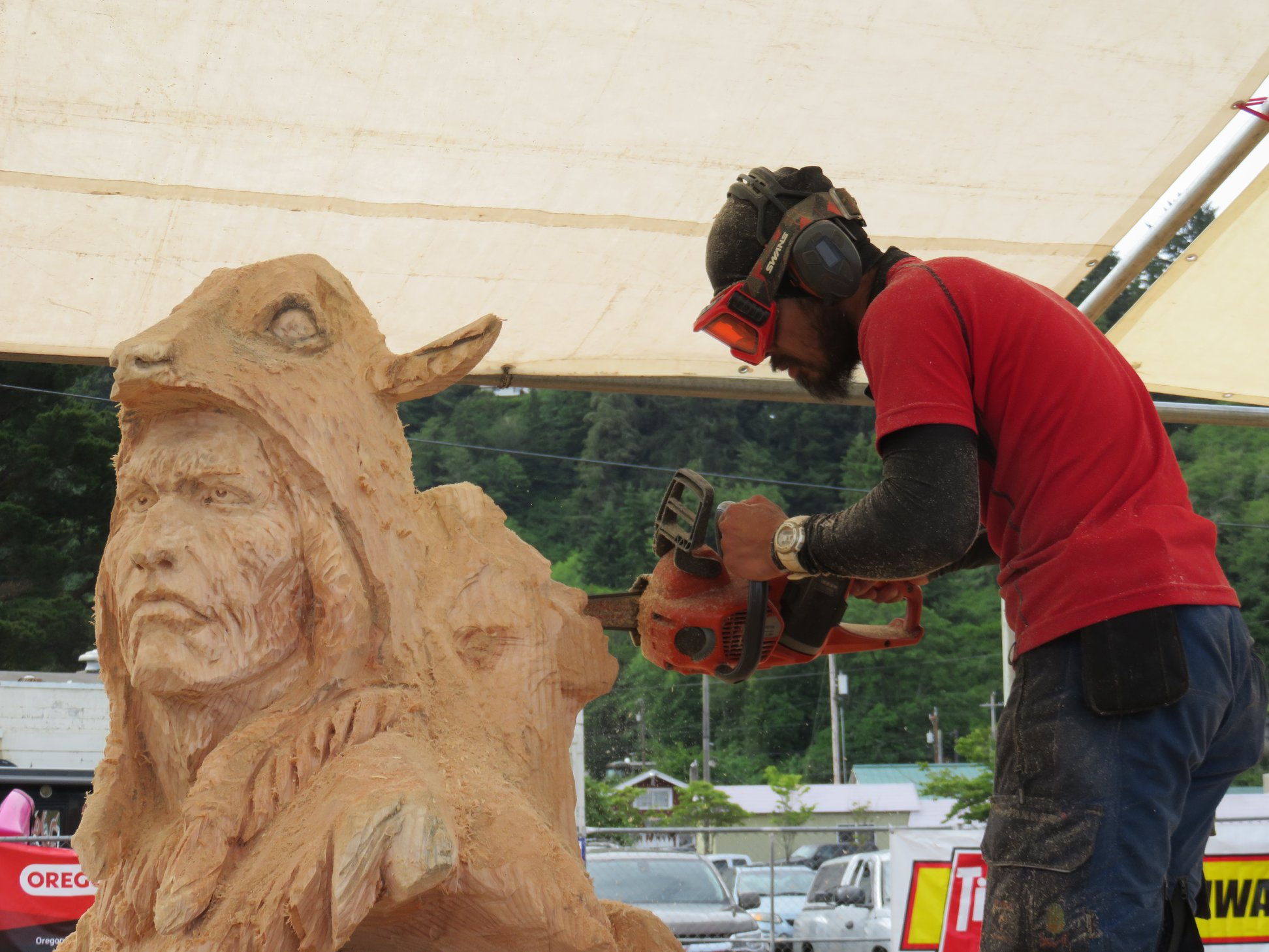 Chainsaw carving championship happening father s day weekend