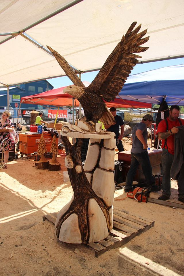 Chainsaw carving championship happening fathers day weekend that