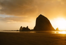 Cannon Beach Oregon Haystack Rock