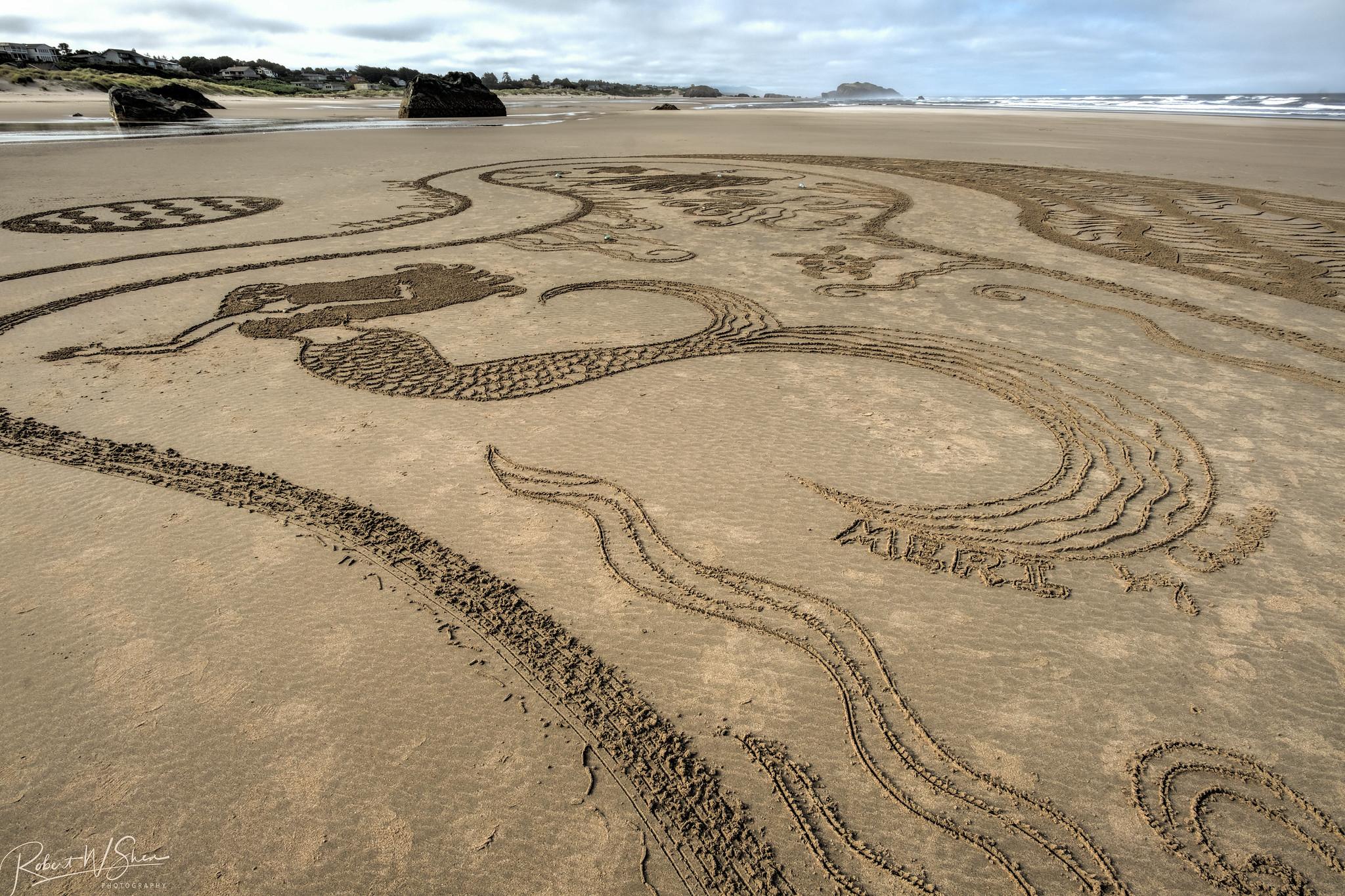 Bandon Oregon Sand Labyrinths