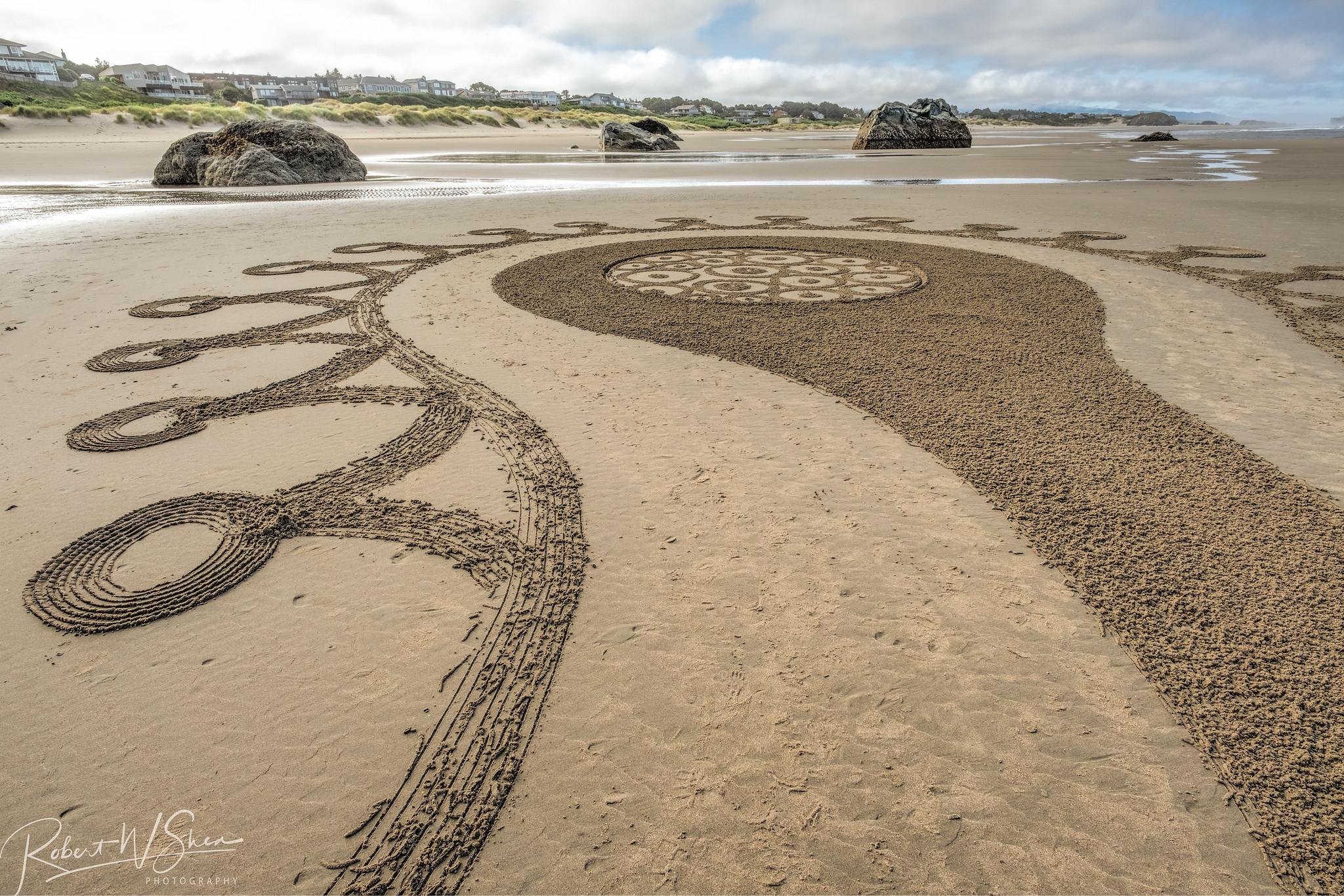Bandon Oregon Sand Maze